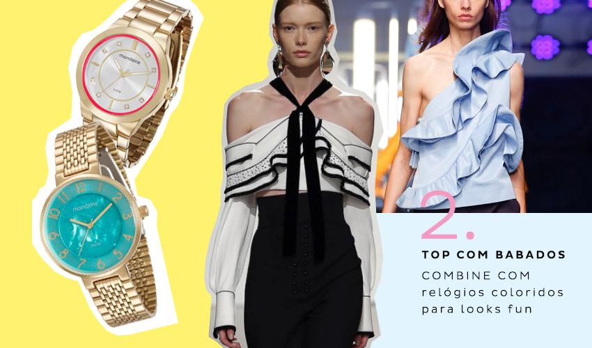 2 top com babados 1 - Dez tendências de moda para o verão 2017