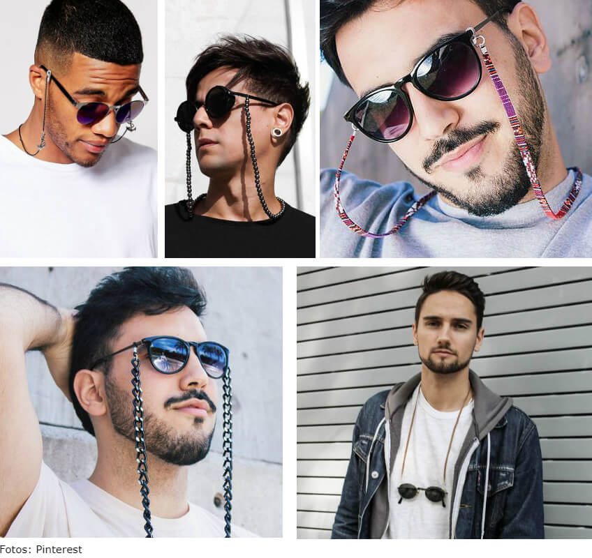 homem 1 - Corrente para óculos: use a tendência e crie looks incríveis