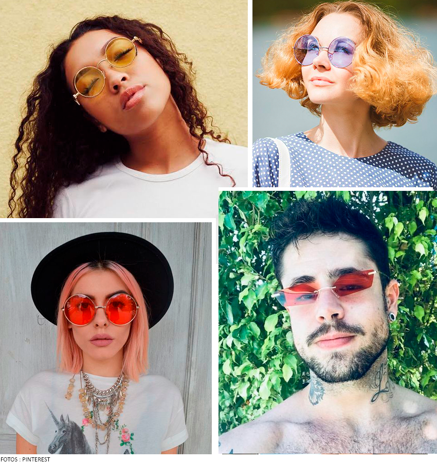 óculos de sol colorido 2019