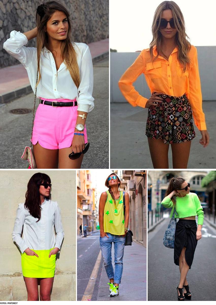 combinação com look neon