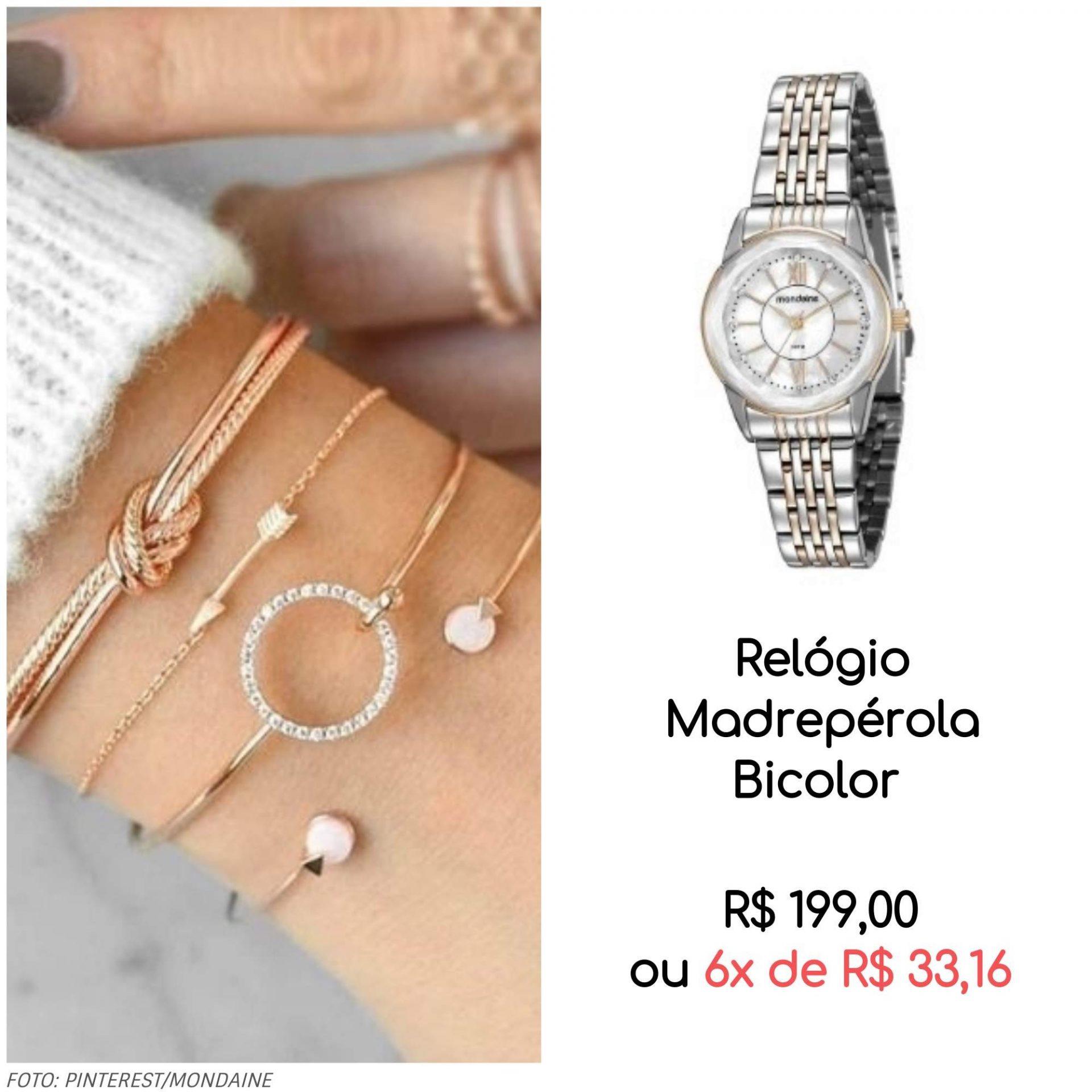02 relógio com pulseiras 1 - Trend Alert: mix de relógio com pulseiras (muitas pulseiras!)