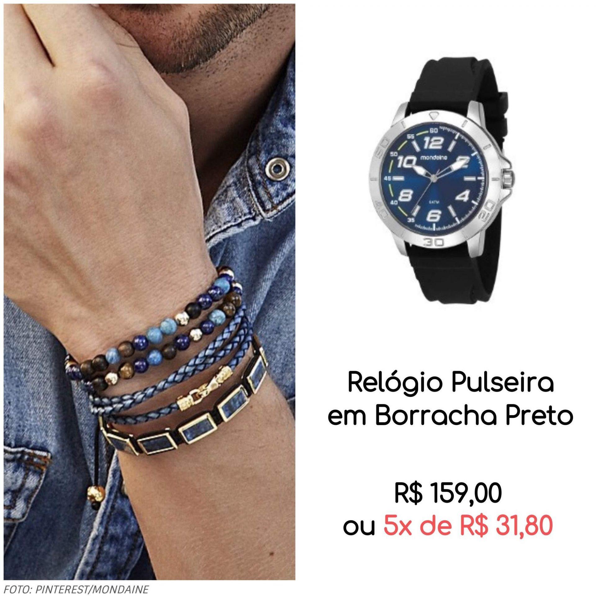 05 relógio com pulseiras 1 - Trend Alert: mix de relógio com pulseiras (muitas pulseiras!)