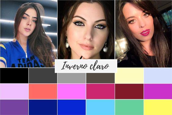 inverno claro - Coloração pessoal: cores que mais harmonizam com você! Descubra no Ouse Todo Dia