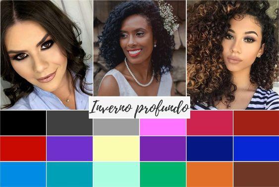 inverno profundo - Coloração pessoal: cores que mais harmonizam com você! Descubra no Ouse Todo Dia