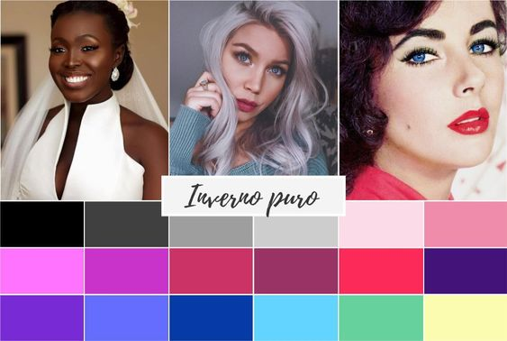 inverno puro - Coloração pessoal: cores que mais harmonizam com você! Descubra no Ouse Todo Dia