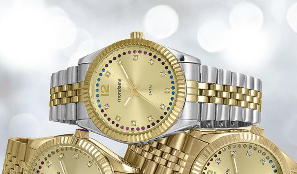 misturar prata com dourado relogios mondaine - Dá pra misturar prata com dourado? 5 relógios para mostrar que sim!