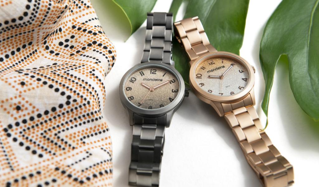 relogiosglittermondaine - Os relógios de glitter estão de volta. Te ensinamos como combinar!